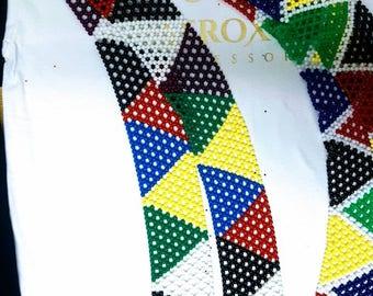Zulu beads ethninc Waist belt