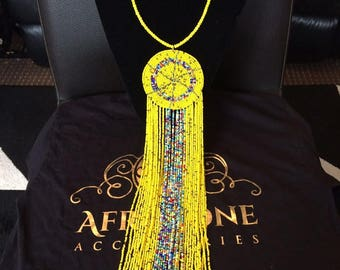 Fashion statement beaded necklace