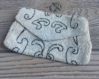 Vintage Beaded Coin Purse from Belgium
