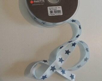 Blue fancy grosgrain blue grey stars