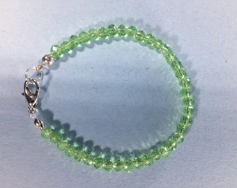 SALE 30% Peridot Bracelet, Peridot Bracelet, Natural Peridot Bracelet, Genuine Peridot Gemstone Bracelet,  March Birthstone bracelet