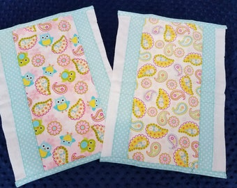 Girly Burp Cloth