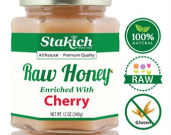Cherry Enriched Raw Honey