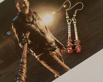 Lucille ~ Negan bat earrings from the walking dead