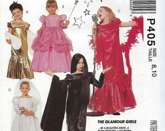 McCalls 6154 (P405) - GIRLS Glamour Costumes / Size 8, 10