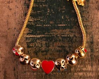 Gold plated emoji face bracelet
