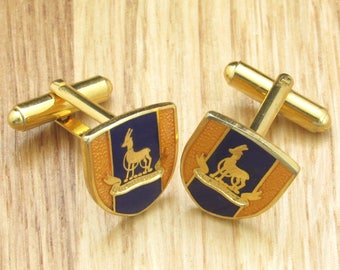 A Pair Of Vintage Royal Warwickshire Cufflinks, Mens Gift, Mens Jewellery, Mens Jewelry, Mens Accessories, Militaria