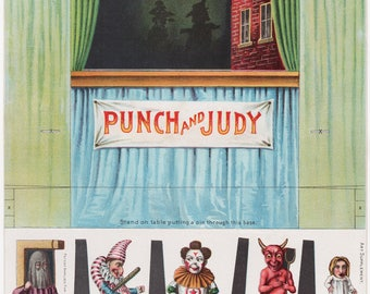 Punch and Judy toy theatre and puppets