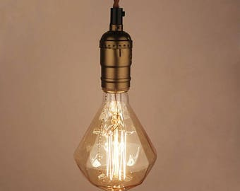 Edison Light Bulb Diamond shaped E27 Squirrel Cage Filament Vintage Industrial Style 110V - 220V