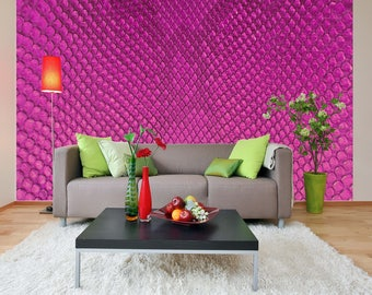Removable Wallpaper Mural Peel & Stick Pink Background