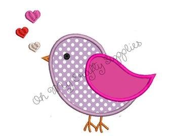Love Bird Applique Design
