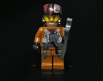 Poe Dameron Star Wars Minifigure Custom Minifigures