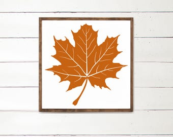 Leaf Wood Sign | Fall Decor | Fall Decorations | Harvest | Country Home Decor | Halloween Decor | Wood Art Sign | Farmhouse