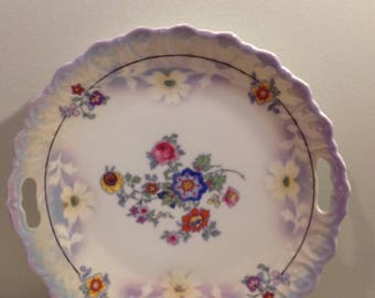 Vintage Bavarian cake plate or serving dish