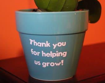 Personalized Flower Pot