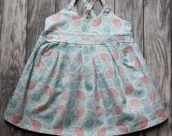 Baby girl dress in pastel colors, baby dress, sweet pink lemon dress from mBrace maternity