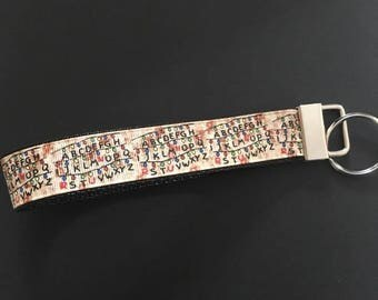 Stranger Things key fob/key fob/stranger things/alphabet lights/the upside down/eleven/dustin/stranger things gift/Barb/millie/will/keychain