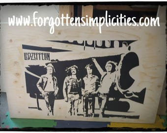 Hand Painted Led Zeppelin tribute wall art