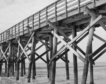 Beach Pier Matted Print - 5x7 Photograph in 8x10 Mat