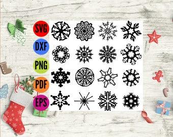 Snowflake SVG, Christmas Svg Bundle, Snowflake PNG, Photoshop Overlay Snowflakes, Christmas Cricut Svg, Svg bundles, Snowflakes