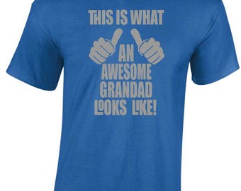 Fathers Day Dad - Awesome Grandad T-Shirt