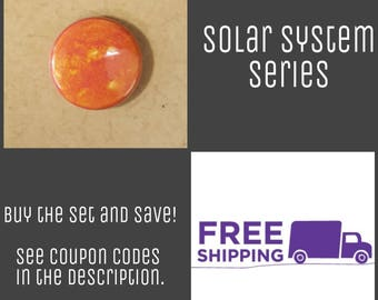 "1"" Sun - Solar System Series Button Pin or Magnet, FREE SHIPPING & Coupon Codes"