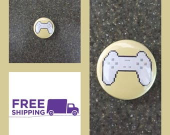 "1"" Playstation One Controller Button Pin or Magnet, FREE SHIPPING & Coupon Codes"