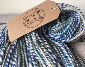Handspun wool, summer blues