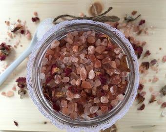 Pink Serenity Himalayan Bath Salts  | 100% Natural  | Serenity + Blossom