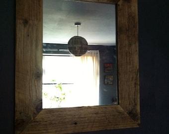 Reclaimed Pallet Wood Mirror