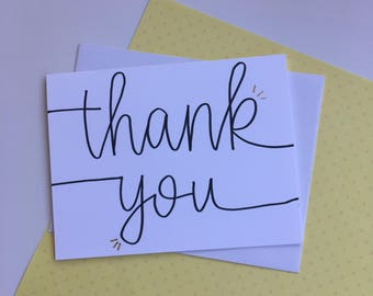 8-pack// Hand-lettered Thank You notes