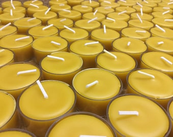 Beeswax Poly Cup Tealight Candles 100% Natural Beeswax-Pure Cotton Wicks