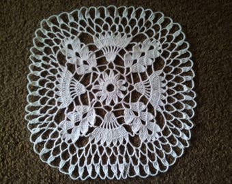 Crochet Doily (Close Match) white
