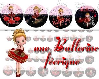 digital images to print miss fairy ballerina
