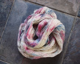 Confetti, 800 meters of hand dyed of BFL lace yarn