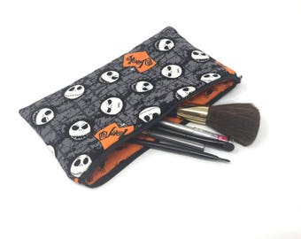 Cosmetic Bag, Makeup Brush Holder, Make-up Bag, Makeup Bag, Pencil Case, Makeup Organizer, Makeup Organizers, Nightmare Before Christmas