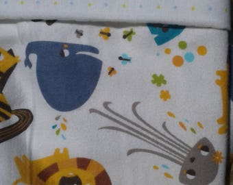 Receiving, swaddling  blanket set polka dots and jungle animals
