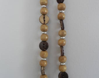 Handmade Button and Bead Necklace