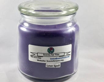 Love Spell Large Candle
