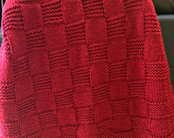 Made to order, hand knit, afghan, lap blanket, throw, custom, bulky, soft