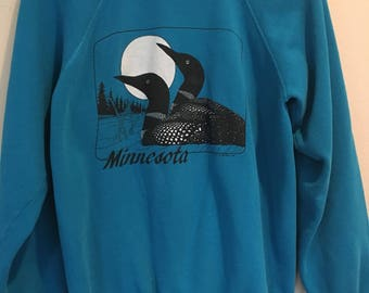 1980s Teal Minnesota Sweatshirt