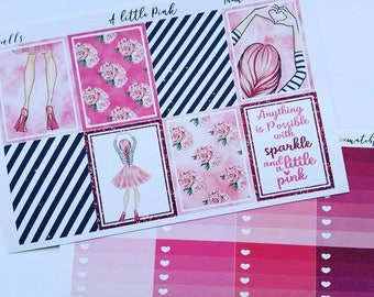 Classic happy planner, A little Pink, pink weekly kit, planner girl,mambi,mini kit,deluxe kit,mix match kit