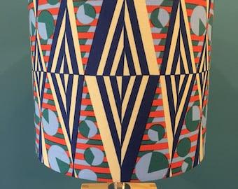 Retro Geometric Funky Fabric Drum Lampshade