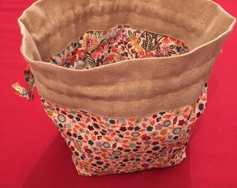 Liberty Drawstring Project Bag | Drawstring Pouch | Liberty Tana Lawn