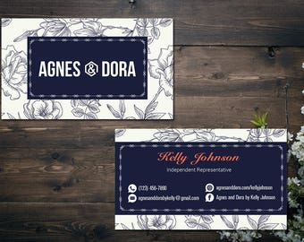 PERSONALIZED Agnes and Dora Business Card, Agnes and Dora Punch Card, Business Cards, Digital File AD04