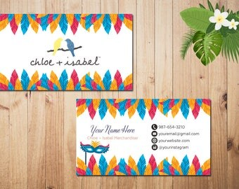 PERSONALIZED Chloe and Isabel Business Card, Custom Chloe and Isabel Card, Fast Free Personalization, Printable Business Card CL07