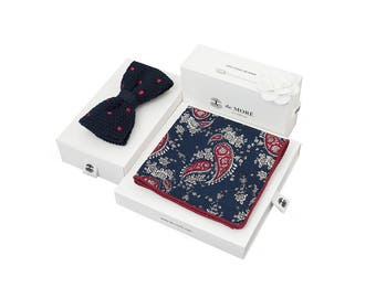 de MORÉ - blue & Bordeaux Paisley set