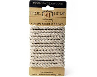 Hemp Rope 6mm 6.56 Feet Pkg-Natural