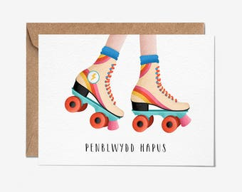 Penblwydd Hapus - Greeting Card - Welsh Card - Welsh Greeting Cards - Folio - Stationery - Welsh Birthday Card - thisisfolio
