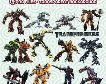 Transformers Clipart, Transformers Images, Transformers Files, Transformers PNG,  Instant Download 33